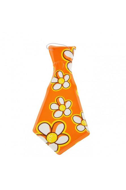 Пластиковый галстук с цветами