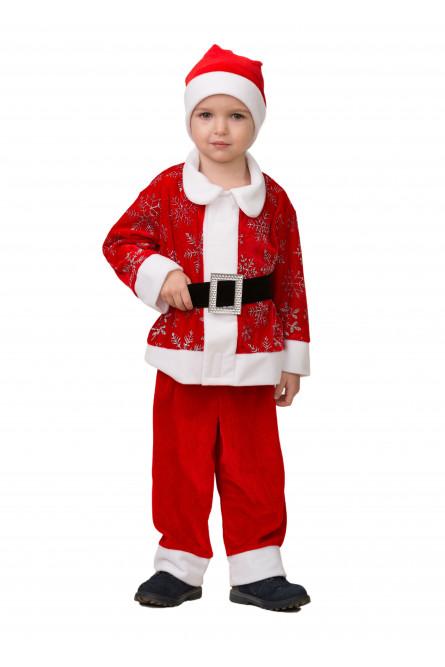 Детский костюм Красного Дедушки Мороза