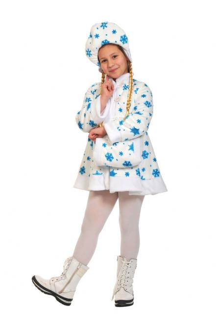 Детский костюм белой Снегурочки