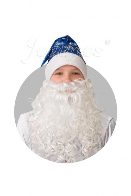Сатиновый синий колпак с бородой