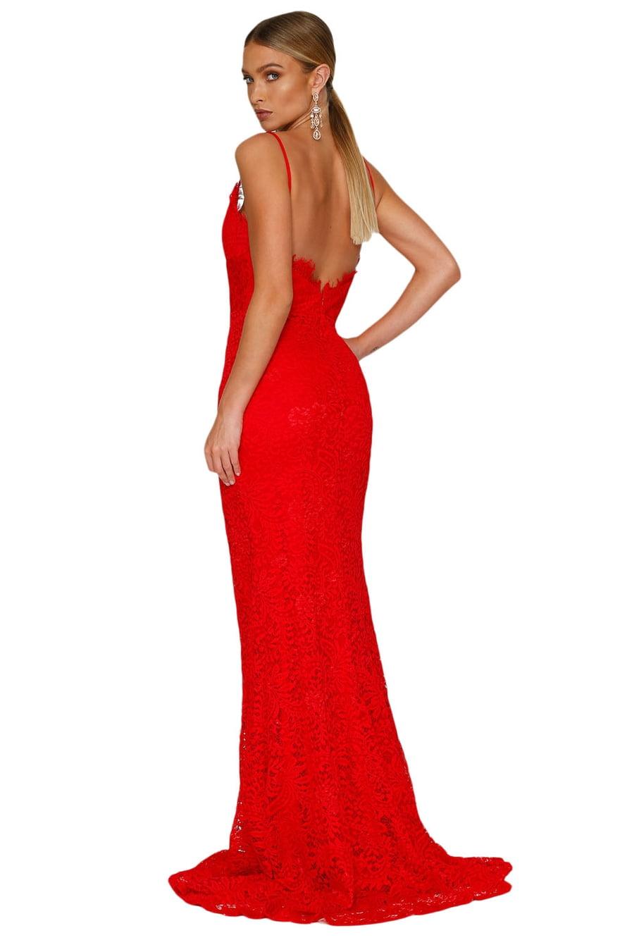 Красное платье в пол картинки