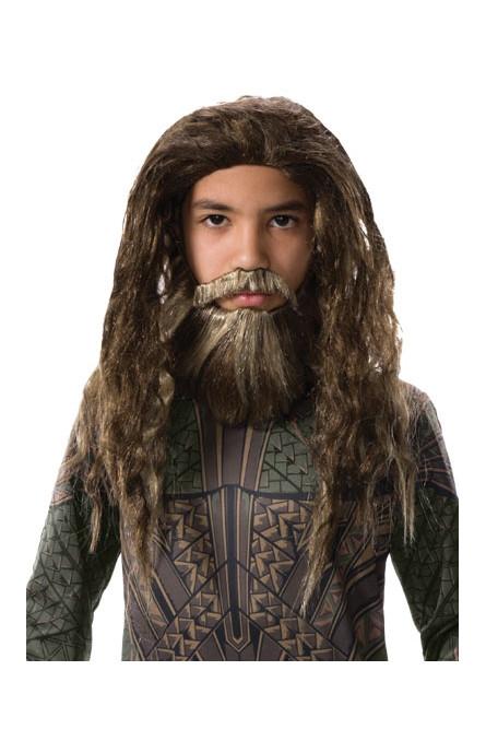 Детские борода и парик Аквамена