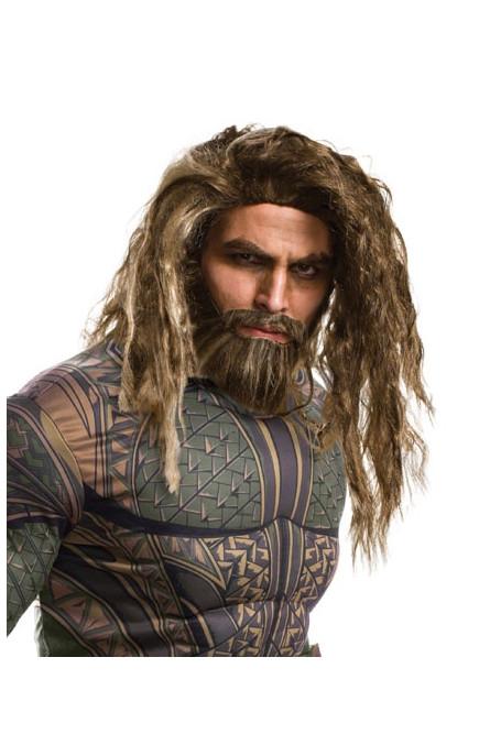 Взрослый парик и борода Аквамена