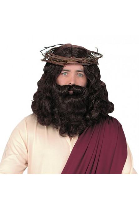 Парик с бородой Иисуса