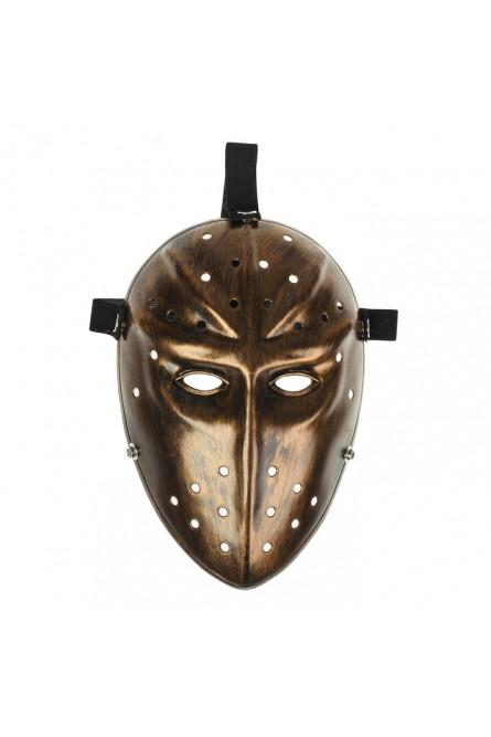 Карнавальная маска Воин золотая