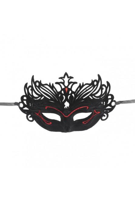 Маска Прелесть карнавальная красная
