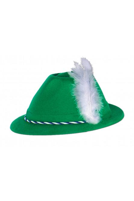 Зеленая тирольская шляпа