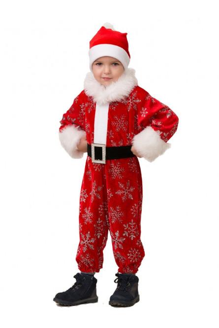 Детский костюм новогоднего Деда Мороза