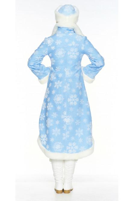 Костюм Боярской Снегурочки в голубом