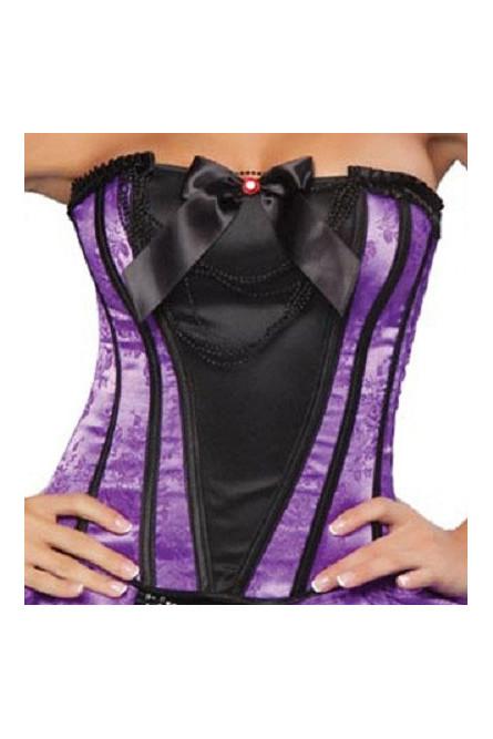 Фиолетово-черный корсет с бантом
