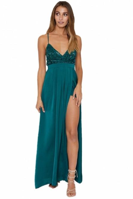 Изумрудное платье в пол