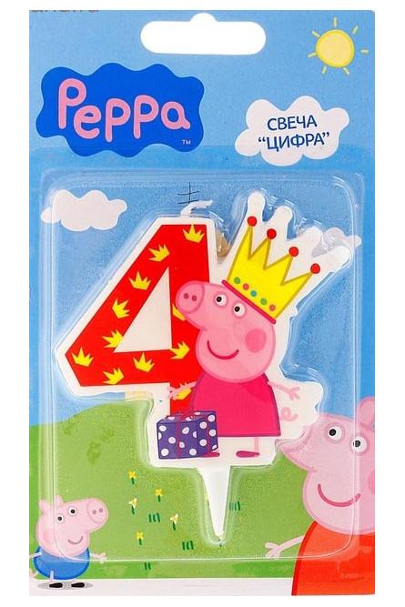 Свеча четверка Свинка Пеппа
