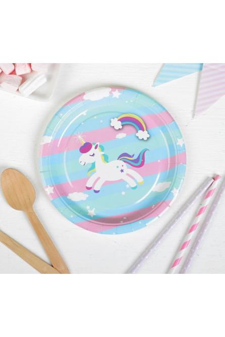 Набор тарелок 10 шт Единорог