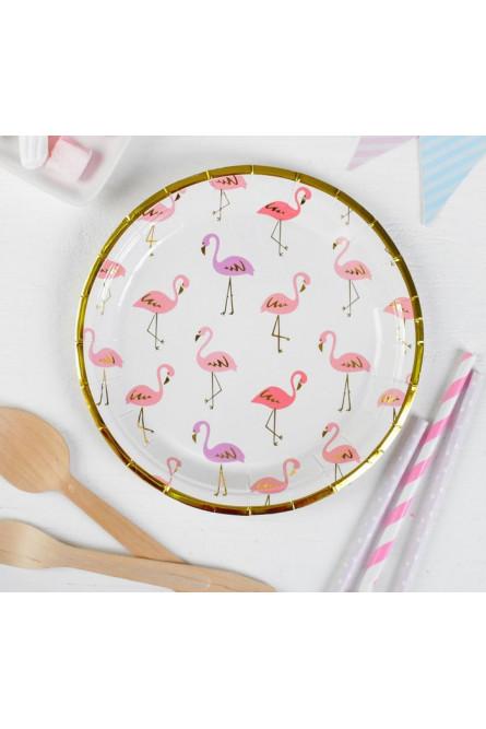 Набор тарелок 6 шт Фламинго