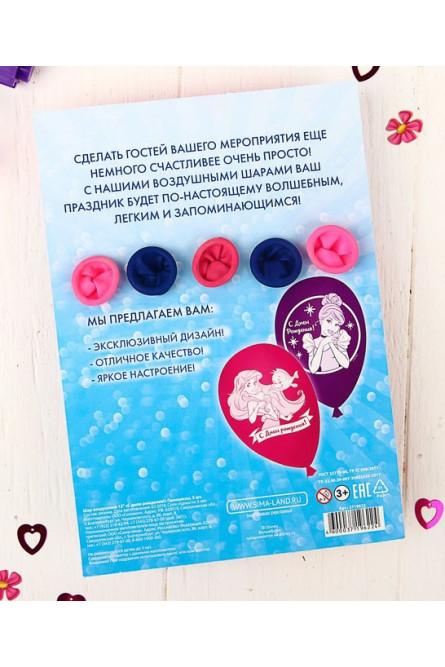 Воздушные шары 5 шт Принцессы Дисней
