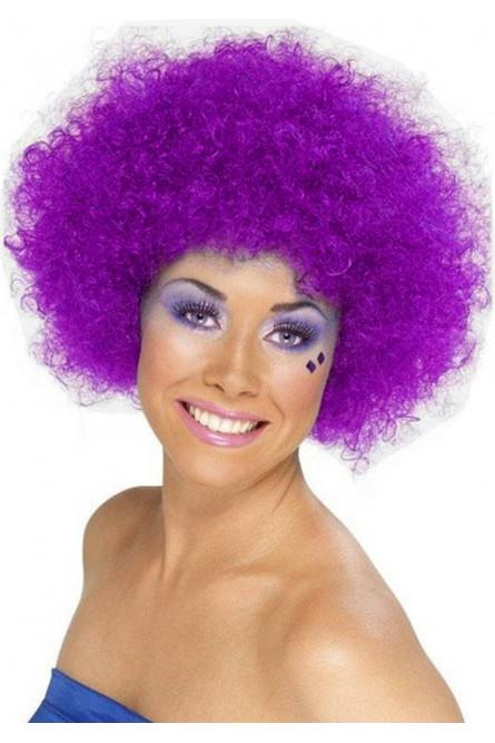 Фиолетовый парик клоуна