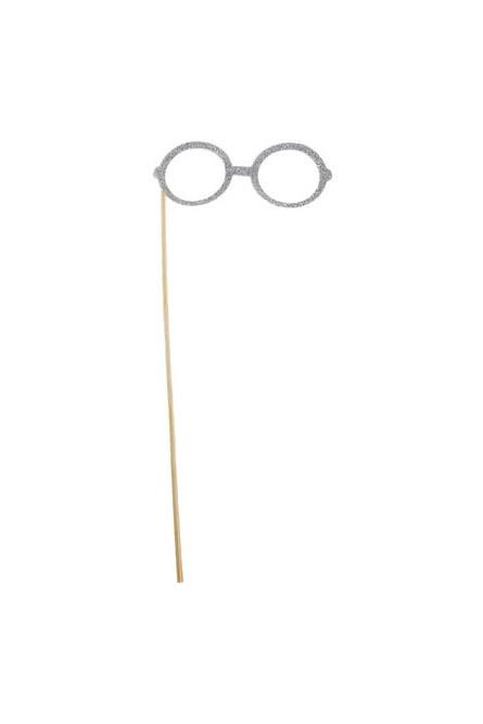Аксессуар на палочке Серебристые очки