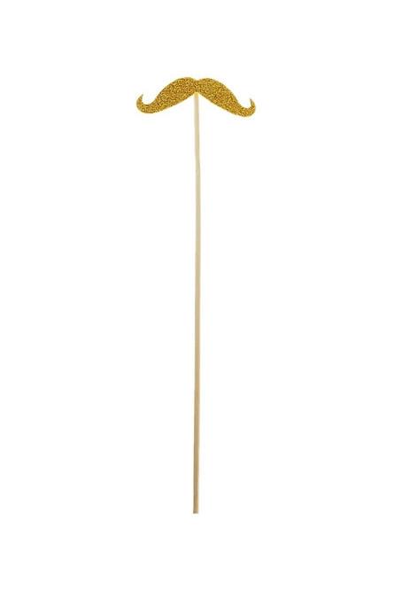 Аксессуар на палочке Золотистые усы