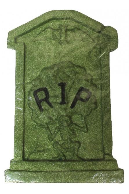 Зеленое блестящее надгробие RIP