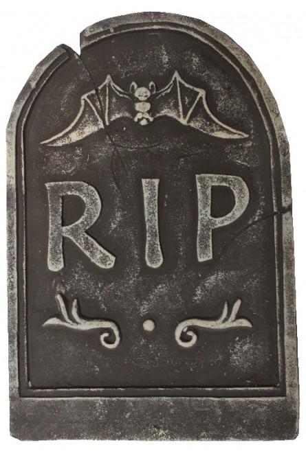 Декоративное надгробие с летучей мышью