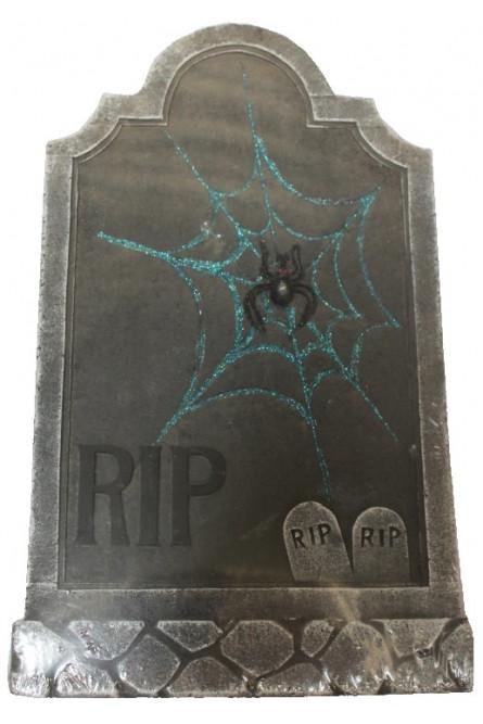Декоративное надгробие с паутиной