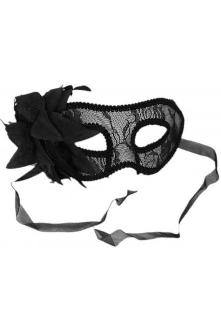 Черная маска с кружевом