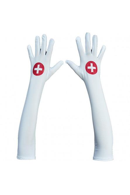 Белые перчатки для медсестры