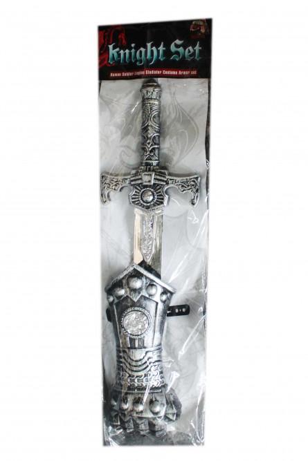 Серебряный набор рыцаря с мечом
