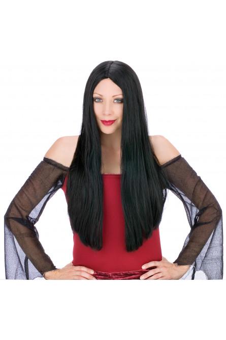 Длинный парик брюнетки