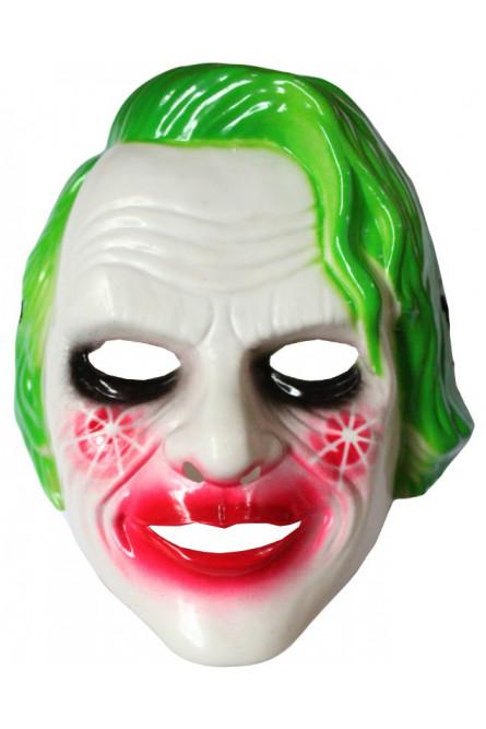 Маска опасного Джокера с зелеными волосами