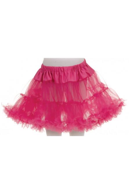 Детский розовый короткий подъюбник