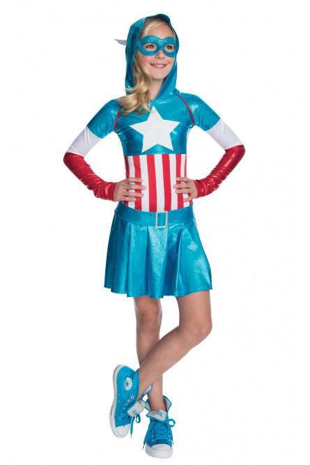 Костюм девочки Капитана Америки