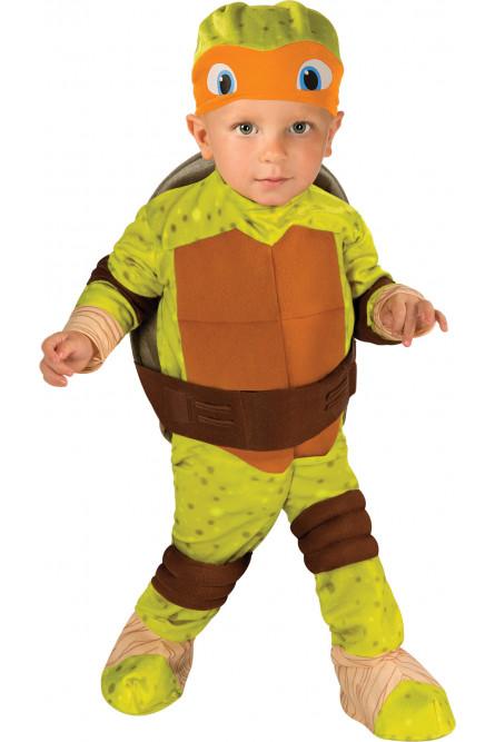 Костюм желто-зеленой Черепашки Каратиста для малыша