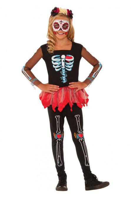 Детский костюм скелета Катрины из Мексики