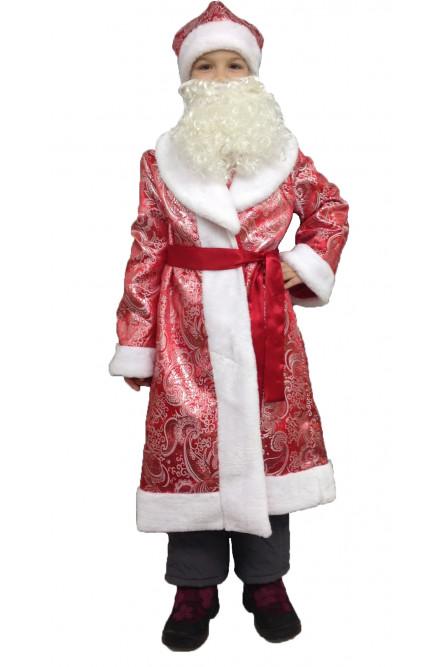 Детский костюм Деда Мороза в красной шубке