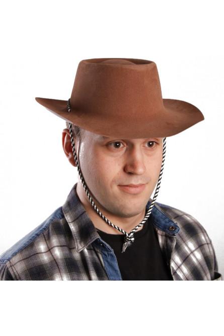 Коричневая шляпа с полями
