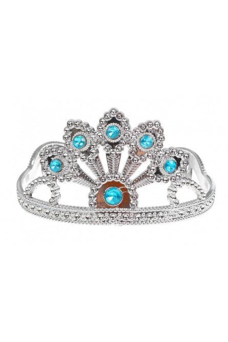 Корона с голубыми камнями