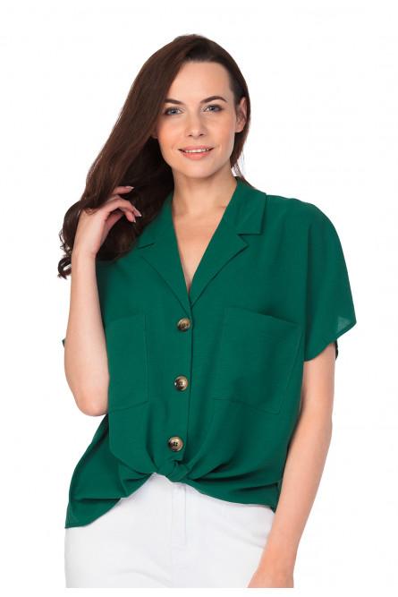 Женский зеленый топ с завязками