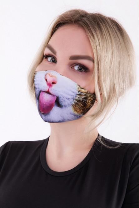 Защитная маска с кошачьим принтом