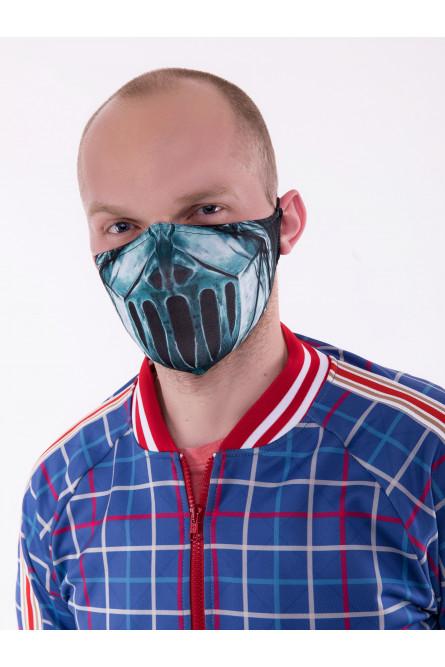Защитная маска с металлическим принтом