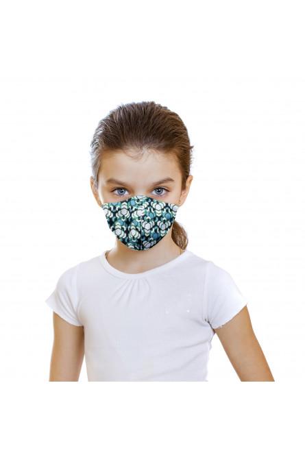 Детская защитная зеленая маска с принтом