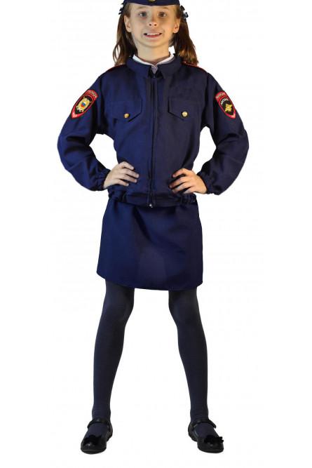 Костюм полицейской девочки