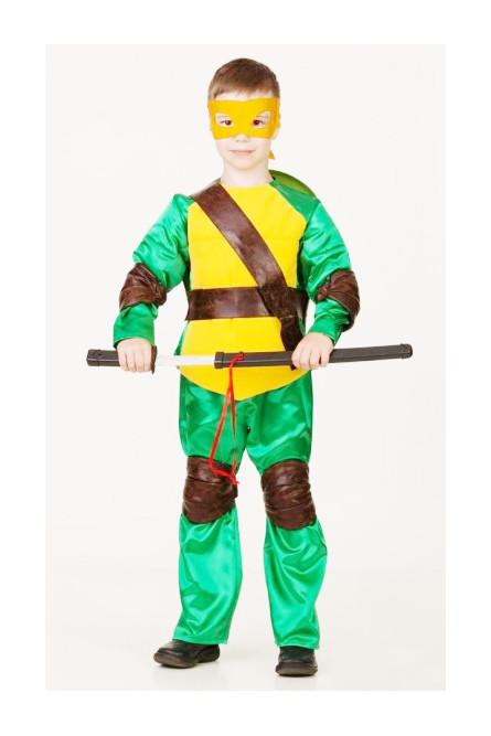 Костюм желто-зеленой Черепашки Каратиста детский
