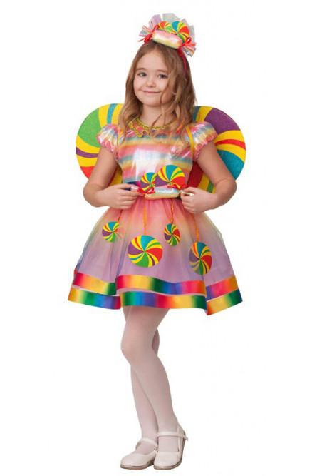 Детский костюм разноцветной Конфетки
