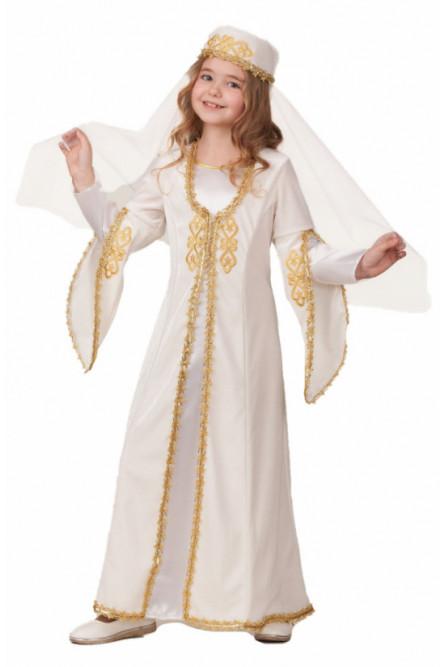 Детский костюм Кавказской девочки в белом