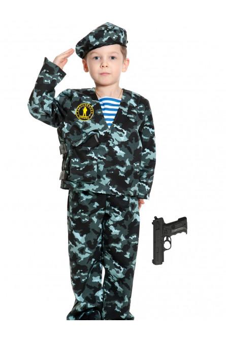 Детский костюм спецназовца с пистолетом