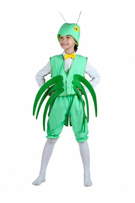 Костюм зеленого кузнечика детский