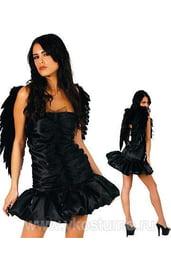 Костюм черного ангела кокетки