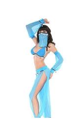 Костюм арабской танцовщицы голубой