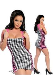 Пестрое клубное платье
